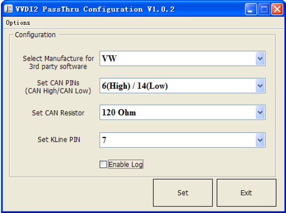 VVDI2 – PassThru J2534 Configuration software