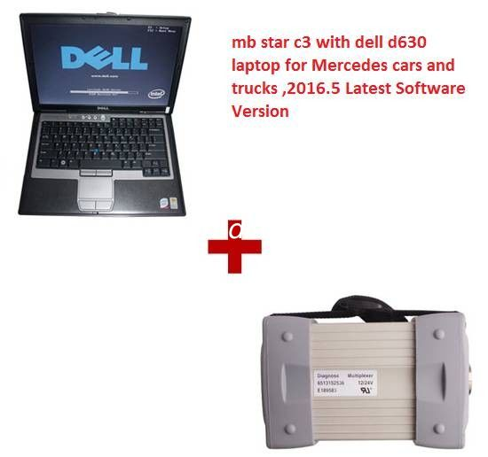Multi Language 2016.12 MB Star C3 Mercedes Diagnostic Tool with Dell D630 Laptop Works with Cars & Trucks