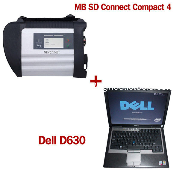Wireless MB SD C4 Mercedes Benz Diagnostic Tool With Dell D630 Laptop Ready to Use