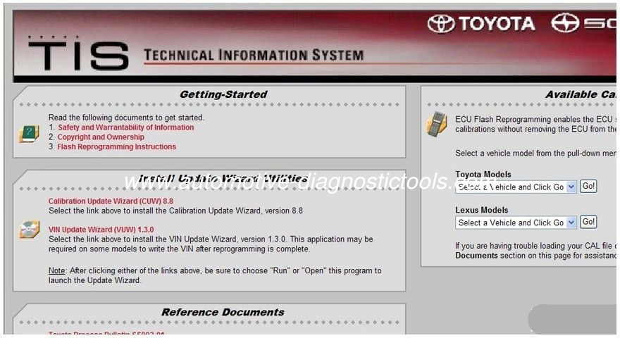 Toyota ECU Flash Reprogramming DVD, Automotive Diagnostic Software